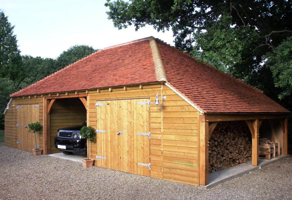 Timber Garage Building