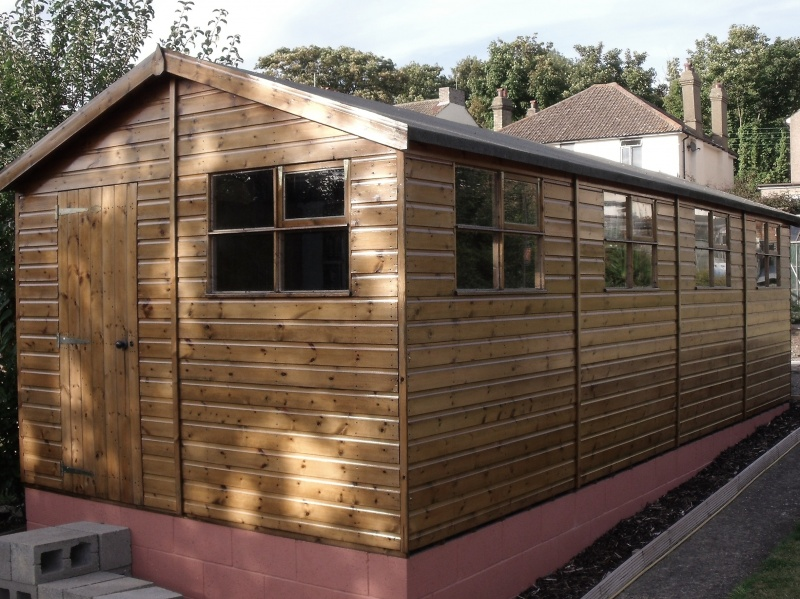 Passmores 24m x 10m Garden Timber Workshop
