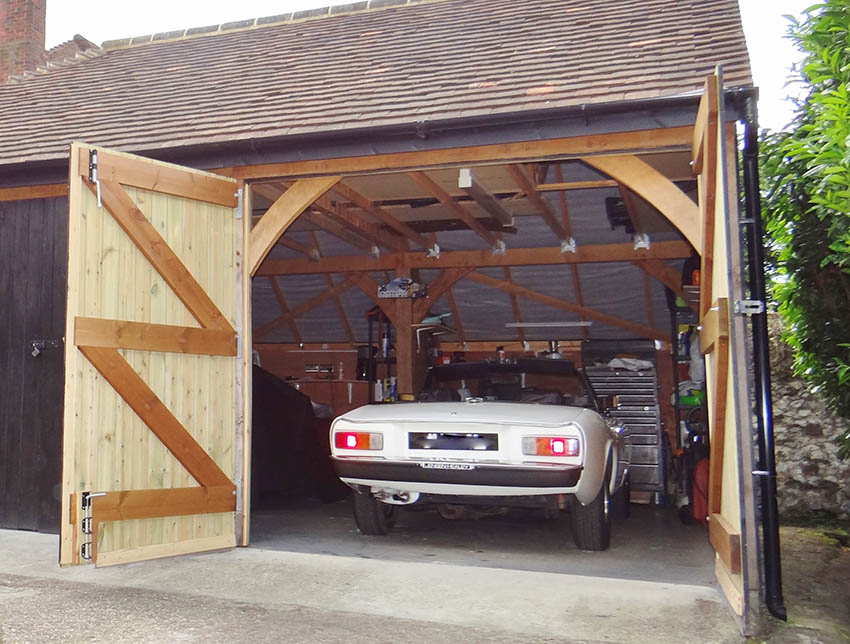 Timber Car Workshop Garage