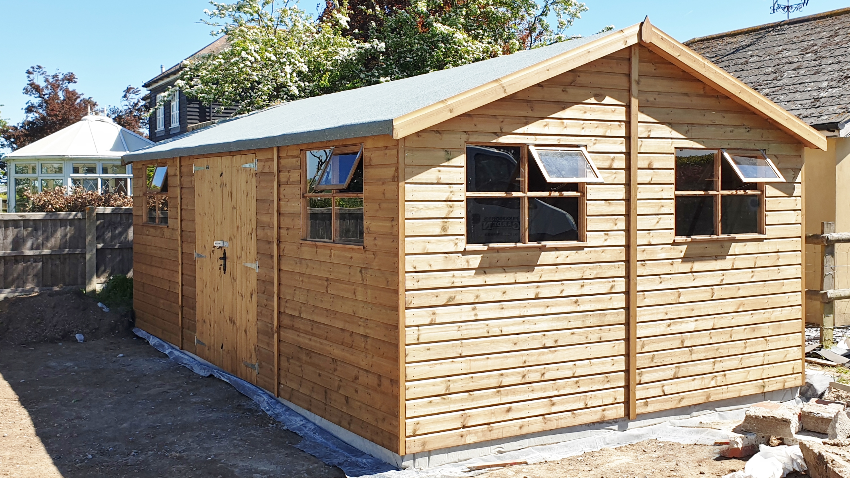 Passmores 12m x 8m Timber Workshop